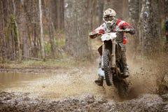 Motocrosswaanzin Stock Fotografie