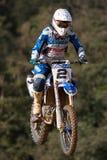 Motocrosswettbewerb Katalanische Motocross-Rennliga Lizenzfreies Stockfoto