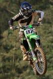 Motocrosswettbewerb Katalanische Motocross-Rennliga Lizenzfreie Stockbilder