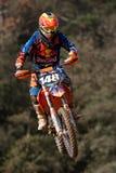 Motocrosswettbewerb Katalanische Motocross-Rennliga Stockfotos