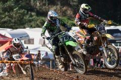 Motocrosswettbewerb Katalanische Motocross-Rennliga Stockbilder