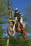motocrossyamaha Royaltyfri Bild