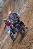 Motocrross em Letónia, no motorista e na motocicleta Foto do curso Foto de Stock