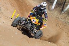 Motocrross em Letónia, no motorista e na motocicleta Foto do curso Imagem de Stock Royalty Free