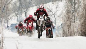 Motocrós del invierno Foto de archivo libre de regalías