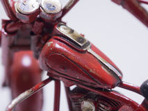 motocycle的玩具模型 关闭 图库摄影