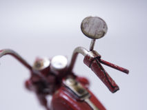 motocycle的玩具模型 关闭 免版税库存照片