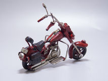 motocycle的玩具模型 关闭 库存照片