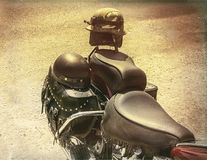Motocycle Crash Helmets. royalty free stock images
