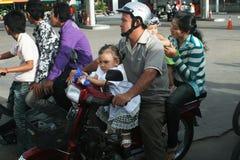 Motocycle de la familia Fotografía de archivo libre de regalías