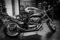 Motocycle Harley-Davidson Custom Bike. BERLIN, GERMANY - MAY 17, 2014: Motocycle Harley-Davidson Custom Bike. Black and white. 27th Oldtimer Day Berlin stock photography