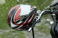 Motocycle Sturzhelm stockbild
