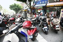 Motocycles parked Stock Photo