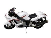 Motocyclette blanche Photos libres de droits