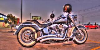 Motocyclette classique de Harley Davidson Image libre de droits