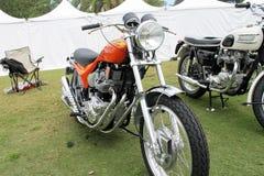 Motocyclette classique de 70s les Anglais Photo stock