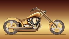Motocyclette d'or illustration de vecteur