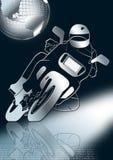 Motocyclette dans le gris Photographie stock