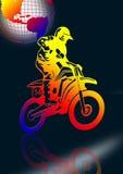 Motocyclette dans le noir Photo stock