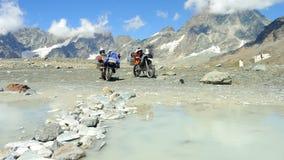 Motocyclette dans les montagnes no.1 Images stock