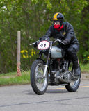 Motocyclette de cru Norton ES2 de Images libres de droits