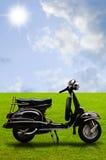 Motocyclette de cru sur la zone Photos libres de droits