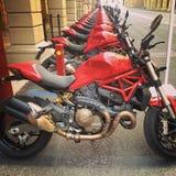 Motocyclette de Ducati Images libres de droits
