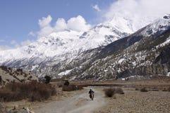 Motocyclette de montagne Photographie stock
