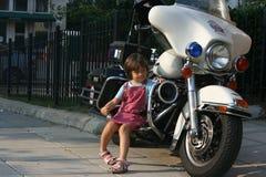 Motocyclette de police Images stock