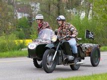 Motocyclette de sidecar de cru Photographie stock