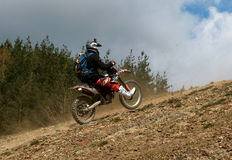 Motocyclette extrême Image libre de droits