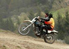 Motocyclette extrême Images libres de droits