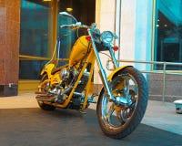 Motocyclette faite sur commande sur le Russe Harley Days, St Petersburg photographie stock libre de droits