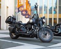 Motocyclette faite sur commande sur le Russe Harley Days, St Petersburg photo libre de droits