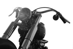 Motocyclette faite sur commande sur un fond blanc Photographie stock libre de droits