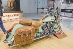 Motocyclette indienne à EICMA 2014 à Milan, Italie Photo stock