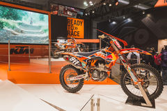 Motocyclette indienne à EICMA 2014 à Milan, Italie Image stock