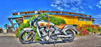 Motocyclette indienne de scout Image libre de droits