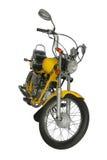 Motocyclette jaune Image libre de droits