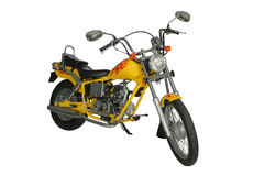 Motocyclette jaune Photographie stock libre de droits