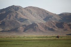 Motocyclette mongole image libre de droits