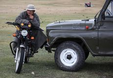 Motocyclette mongole photos stock