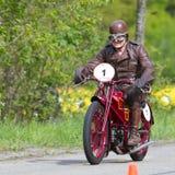 Motocyclette Moto Guzzi C4V de cru Photographie stock libre de droits