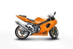 Motocyclette orange Photos stock