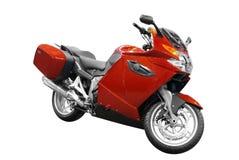 Motocyclette rouge Image libre de droits