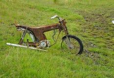 Motocyclette rouillée Image stock