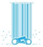 Motocyclette sous la pluie de code Images libres de droits
