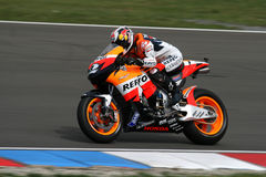 Motocyclette sur le circuit de MotoGP Photos libres de droits