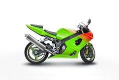 Motocyclette verte Image stock