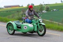 Motocyclette Zuendapp KS 600 de sidecar de 194 Photographie stock libre de droits